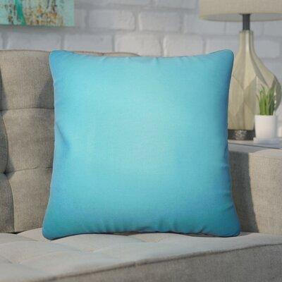 Desma Solid Cotton Throw Pillow Color: Aqua Blue