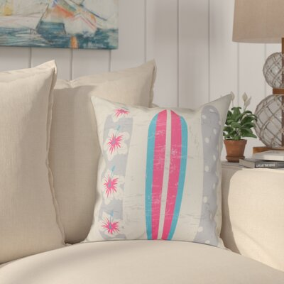 Pembrook Triple Surf Geometric Throw Pillow Size: 16 H x 16 W, Color: Pink
