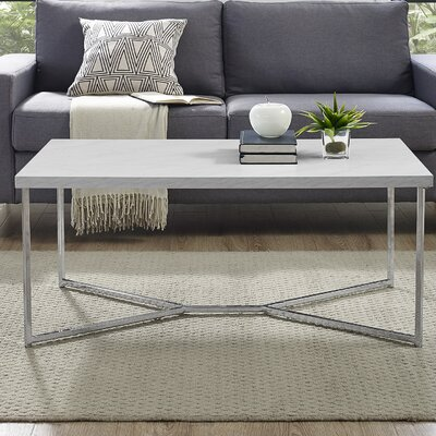 Seguin Y-Leg Coffee Table Table Base Color: Chrome