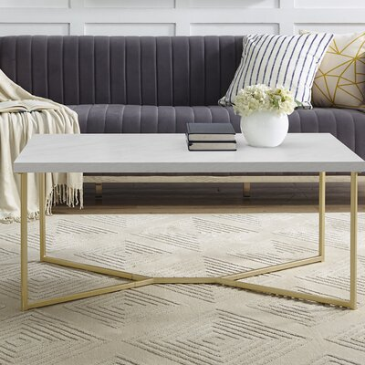 Seguin Y-Leg Coffee Table Table Base Color: Gold