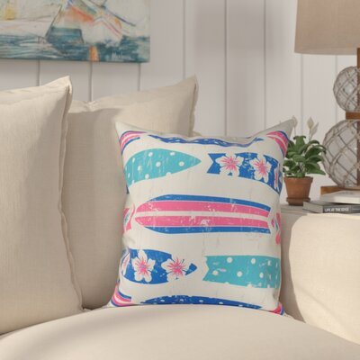 Golden Beach Dean Geometric Throw Pillow Size: 18 H x 18 W, Color: Blue