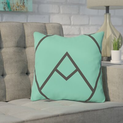 Barbagallo Polyester Throw Pillow Size: 16 H x 16 W, Color: Turquoise