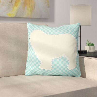 Komondor Indoor/Outdoor Throw Pillow Size: 18 H x 18 W x 3 D, Color: Blue
