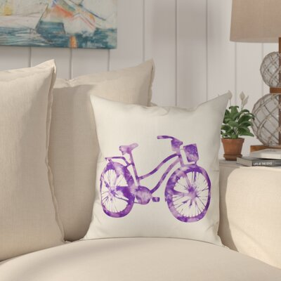 Golden Beach Life Cycle Outdoor Throw Pillow Size: 20 H x 20 W, Color: Purple