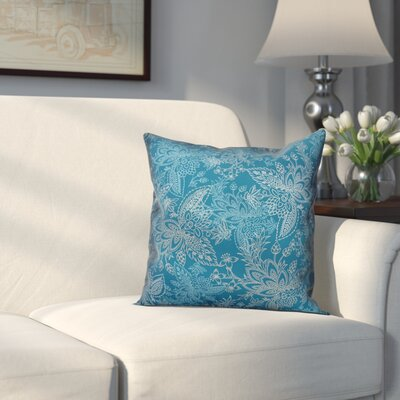 Kepner Paisley Throw Pillow Color: Teal Green, Size: 18 x 18, Type: Lumbar Pillow
