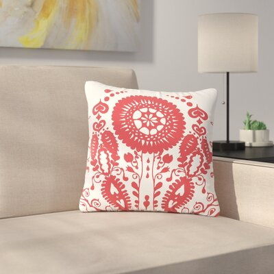 Luvprintz Flower Outdoor Throw Pillow Size: 16 H x 16 W x 5 D
