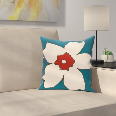 Silvas Floral Throw Pillow Size: 20 H x 20 W, Color: Teal / Dragon