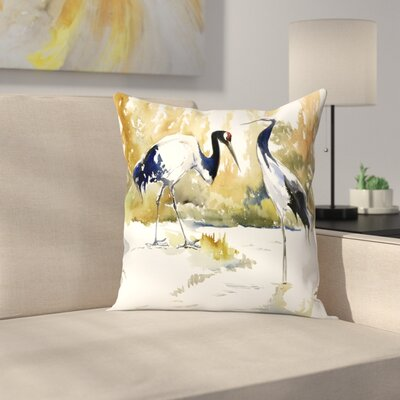 Cranes Throw Pillow Size: 14 x 14
