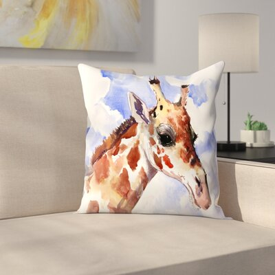 Giraffe 2 Throw Pillow Size: 16 x 16