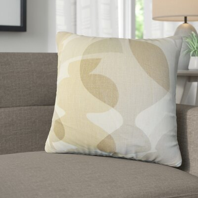 Kourtney Modern Geometric Linen Throw Pillow Color: Brown