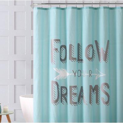 Petersen Follow Your Dreams Metallic Shower Curtain