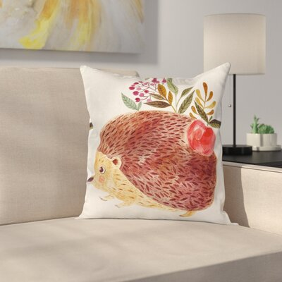 Modern Animal Square Pillow Cover with Zipper Size: 18 x 18