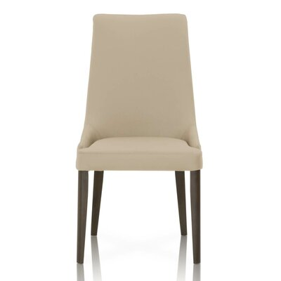 Berner Genuine Leather Upholstered Dining Chair (Set of 2) Upholstery Color: Flaxen