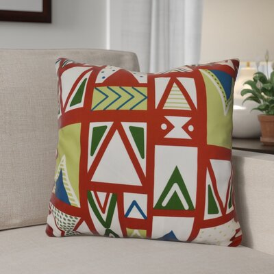Christmas Outdoor Throw Pillow Size: 18 H x 18 W, Color: Red