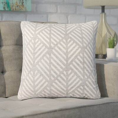 Darren Geometric Design Square Throw Pillow Color: Light Gray