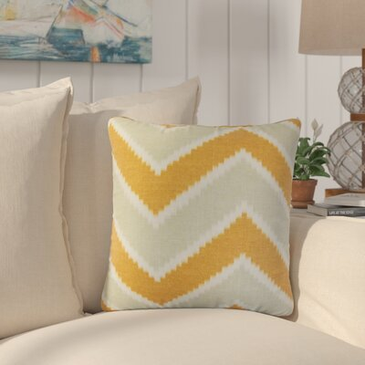 Simonton Zigzag Linen Throw Pillow Color: Orange