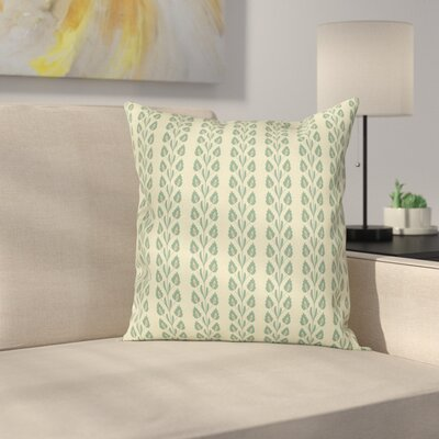 Modern Removable Floral Square Pillow Cover Size: 16 x 16