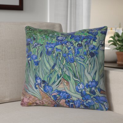 Morley Irises Throw Pillow