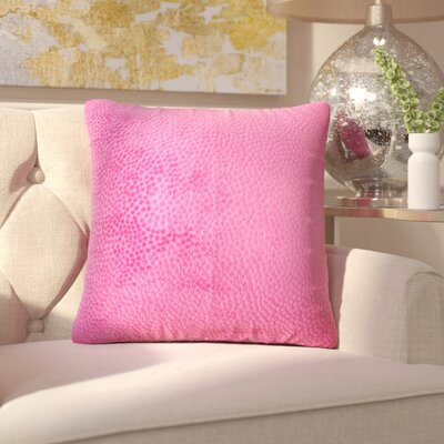 Chevaliers Solid Throw Pillow Color: Azalea