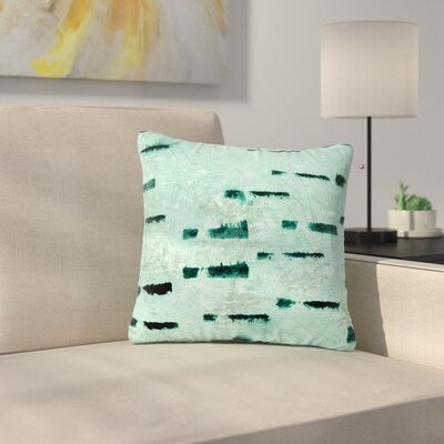 Iris Lehnhardt Tex Mix Lounge Abstract Outdoor Throw Pillow Size: 18 H x 18 W x 5 D, Color: Teal