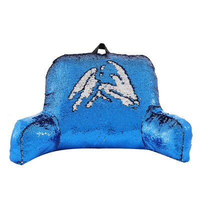 Petillo Sequins Bed Rest Pillow Color: Blue