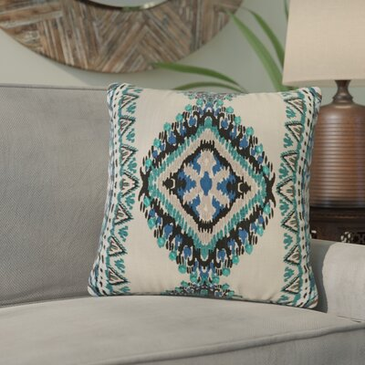 Bernice Cotton Throw Pillow Color: Green