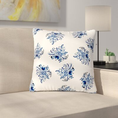 Jennifer Rizzo Garden Flowers Floral Outdoor Throw Pillow Size: 16 H x 16 W x 5 D