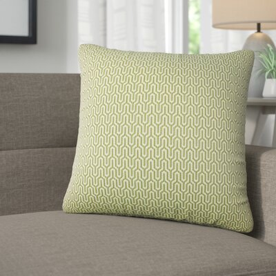 Ivanna Geometric Cotton Throw Pillow Color: Jungle