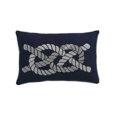 Embroidered Rope Throw Pillow