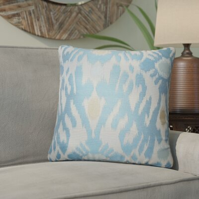 Aahil Ikat Throw Pillow Color: Chambray
