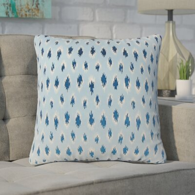 Wyndmoor Ikat Throw Pillow Color: Chambray
