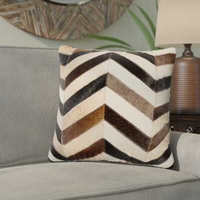 Graham Leather Throw Pillow Color: Black/Brown/White