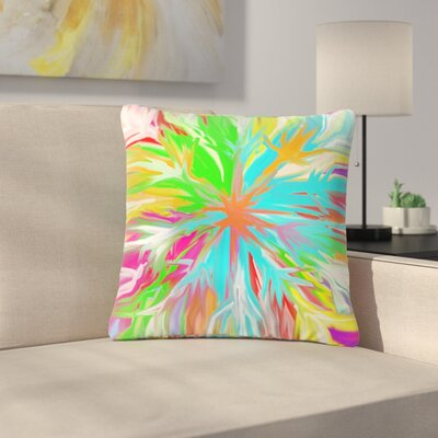 Dan Sekanwagi Tropical Paradise Abstract Outdoor Throw Pillow Size: 18 H x 18 W x 5 D