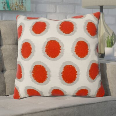 Mcelhaney Linen Throw Pillow Color: Red