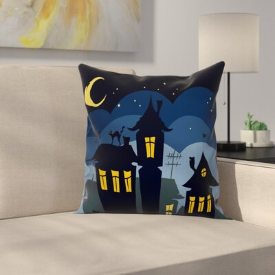 Halloween Pillow Cover Size: 18 x 18