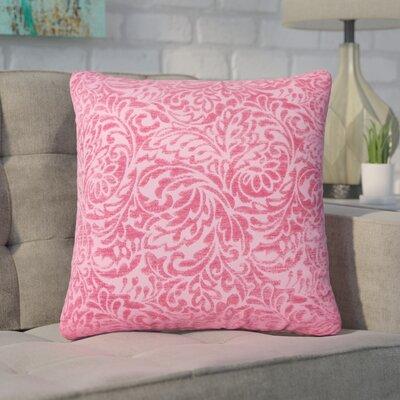 Winans Damask Throw Pillow Color: Azalea