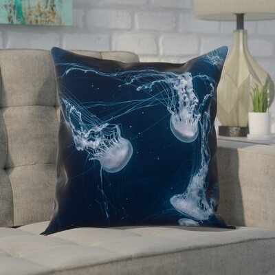 Nathaniel Jellyfish Indoor Pillow Cover Size: 18 x 18