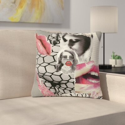 Jina Ninjjaga Love Pop Art Outdoor Throw Pillow Size: 18 H x 18 W x 5 D