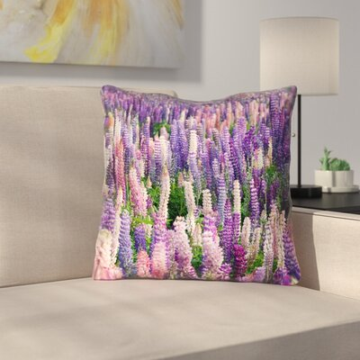 Joyeta Lavender Field Double Sided Print Throw Pillow Size: 16 x 16