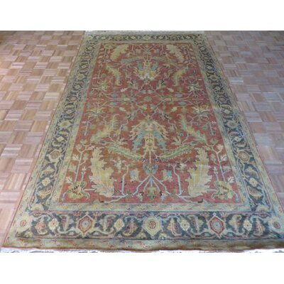 One-of-a-Kind Josephson Antiqued Serapi Heriz Hand-Knotted Rust Red Area Rug