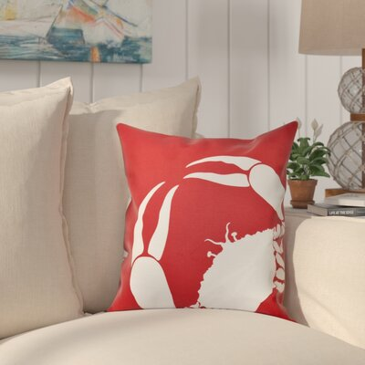 Shirley Mills Crab Outdoor Throw Pillow Size: 20 H x 20 W, Color: Coral