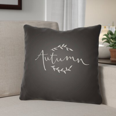Autumn Indoor/Outdoor Throw Pillow Size: 20 H x 20 W x 4 D, Color: Black/White