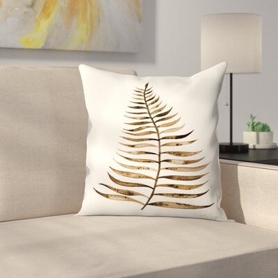Palm Leaf Throw Pillow Color: Sepia, Size: 14 x 14