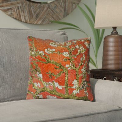 Lei Almond Blossom Throw Pillow Color: Red, Size: 20 x 20