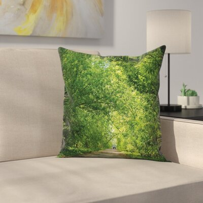 Fresh Canopy Forest Square Pillow Cover Size: 18 x 18