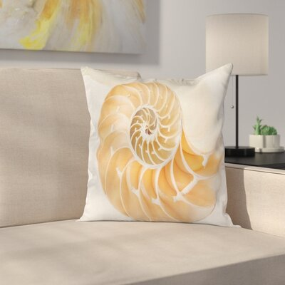 Nautilus Shell Square Pillow Cover Size: 18 x 18