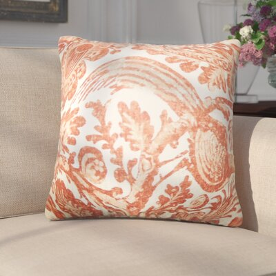 Erling Floral Linen Throw Pillow Color: Orange