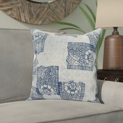 Hirth Patches Indoor/Outdoor Throw Pillow Color: Navy Blue, Size: 18 x 18