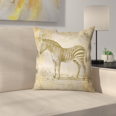 Zebra Vintage 3 Throw Pillow Size: 18 x 18