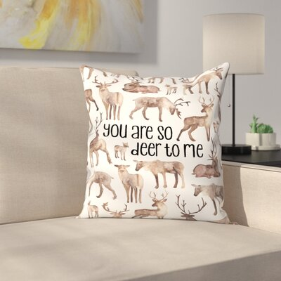Elena ONeill You are so Deer to Me Throw Pillow Size: 20 x 20